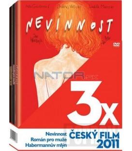 3x Český film 2011: Nevinnost, Román pro muže, Habermannův mlýn, 3 DVD