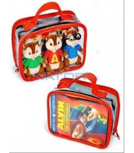 3 DVD Alvin a Chipmunkové (balení s hračkami) / 3 DVD Alvin and the Chipmunks