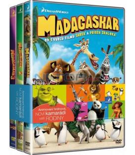 Madagaskar 1-3  (Madagascar 1-3)  - 3 X DVD