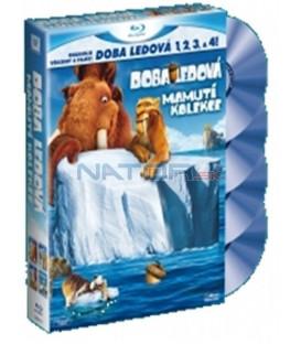 Doba ledová - Mamutí kolekce 1,2,3,4,  ve 2D verzi, - Blu-ray - doplněná 2 figurkami postaviček z filmu