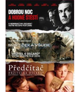 Kolekce filmů: Dobrou noc a hodně štěstí + Smrt čeká všude + Předčítač - 3 X DVD