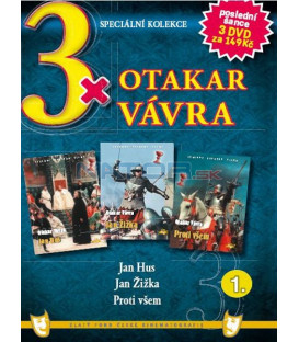 3x Otakar Vávra I - Jan Hus / Jan Žižka / Proti všem DVD