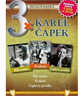 3x Karel Čapek - Bílá nemoc / Krakatit / Čapkovy povídky DVD