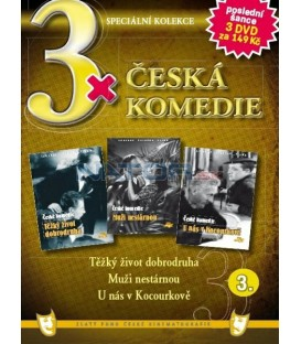 3x Česká komedie III - Těžký život dobrodruha / Muži nestárnou / U nás v Kocourkově DVD
