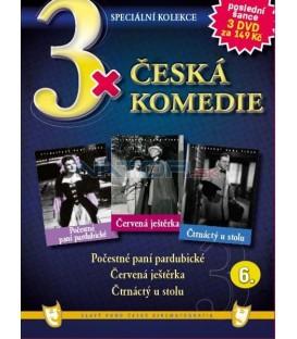 3x Česká komedie VI - Počestné paní pardubické / Červená ještěrka / Čtrnáctý u stolu DVD
