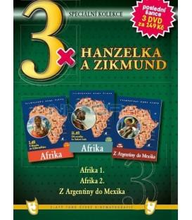 3x Hanzelka a Zikmund - Afrika I. / Afrika II. / Z Argentiny do Mexika DVD