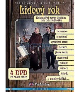 Lidový rok - Kalendářní zvyky českého lidu od středověku - 4x DVD