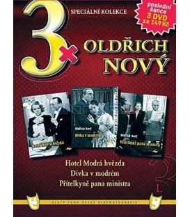 3x Oldřich Nový I: Hotel Modrá hvězda / Dívka v modrém / Přítelkyně pana ministra DVD