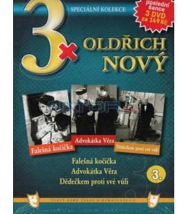 3x Oldřich Nový III: Falešná kočička / Advokátka Věra / Dědečkem proti své vůli DVD