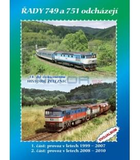 Historie železnic - LOKOMOTIVY ŘAD 749 a 751 ODCHÁZEJÍ - 2x DVD
