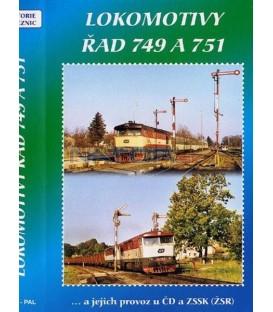 Historie železnic - LOKOMOTIVY ŘAD 749 A 751 DVD