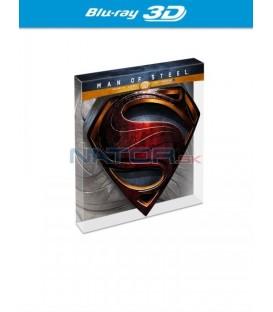 MUŽ Z OCELI (Man of Steel) (Kovové S, 2 BD Limitovaná edice) - Blu-ray 3D + 2D