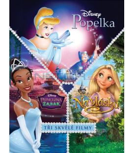 Kolekce: Princezna a žabák + Na vlásku + Popelka DE 3 x DVD (Princess and the Frog + Tangled + Cinderella)