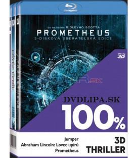 100% 3D Thriller (Jumper, Abraham Lincol, Prometheus) 3 x Blu-ray