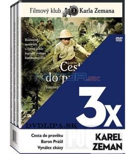 Kolekce Karel Zeman: Cesta do pravěku, Baron Prášil, Vynález zkázy 3 x DVD digipack