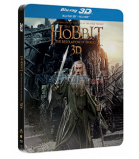 Hobit: Šmakova dračí poušť (The Hobbit: The Desolation of Smaug) 4Blu-ray 3D+2D steelbook