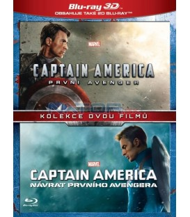Captain America kolekce 1.-2. 4BD (3D+2D) (Captain America: The First Avenger + Captain America: The Winter Soldier) Blu-ray
