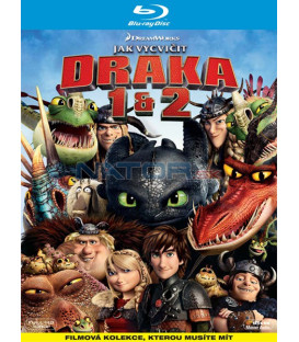 Ako vycvičiť draka 1 + 2 (How to Train Your Dragon 1 + 2) KOLEKCE (2xBD) - Blu-ray