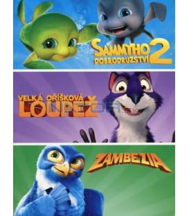 Kolekce animáků: Velká oříšková loupež, Sammyho dobrodružství 2, Zambezia 3DVD