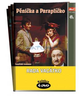 Rada Vacátko - Kolekce 4 DVD - Pěnička a Paraplíčko, Partie krásného dragouna, Vražda v hotelu Excelsior, Smrt černého krále