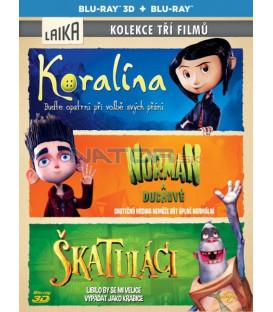 3 BD Koralína-Norman a duchové-Škatuláci Blu-ray 3D + 2D