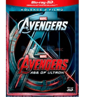Avengers kolekce 1.-2. (The Avengers + Avengers: Age of Ultron) 4Blu-ray 3D+2D