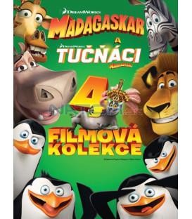 Madagaskar 1-3 + Tučňáci z Madagaskaru - kolekce 4DVD