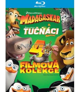 Madagaskar 1-3 + Tučňáci z Madagaskaru - kolekce 4Blu-ray