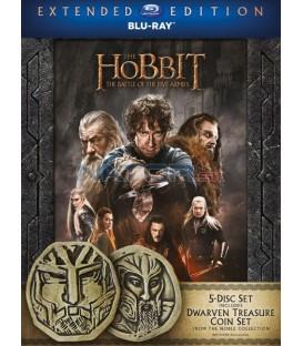 Hobit: Bitva pěti armád - prodloužená verze 5BD (3D+2D) Blu-ray Edice s mincemi
