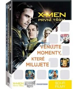 Sci-fi filmy (Zrození planety opic,X-Men: První třída,Prometheus) 3DVD