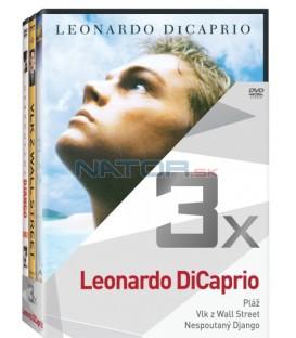 Kolekce:Leonardo DiCaprio (Pláž, Vlk z Wall Street, Nespoutaný Django) 3DVD