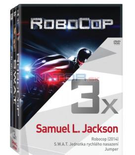 Kolekce:Samuel L. Jackson (Robocop 2014, S.W.A.T. Jednotka rychlého nasazení, Jumper) 3DVD