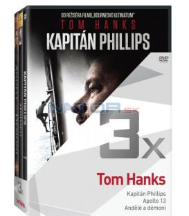 Kolekce:Tom Hanks (Kapitán Phillips, Apollo 13, Andělé a démoni) 3DVD