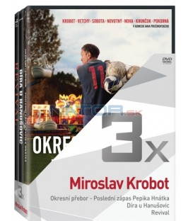 Kolekce:Miroslav Krobot (Okresní přebor Poslední zápas Pepika Hnátka, Díra u Hanušovic, Revival) 3DVD