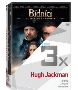 Kolekce:Hugh Jackman (Bídníci, Zmizení, The Wolverine) 3DVD
