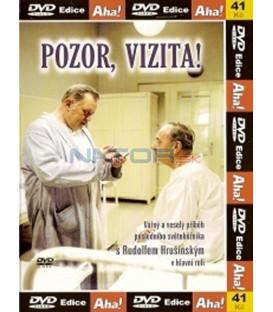 Rudolf Hrušínský - kolekce 3 DVD - Skřivánci na niti,  Pozor vizita, Báječní muži s klikou