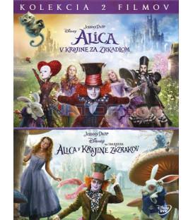 Alenka v říši divů kolekce 1.-2 (Alice in Wonderland + Alice Through the Looking Glass) 2XDVD