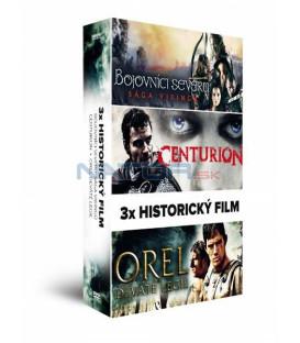 3x Historický film (3DVD): Bojovníci severu: Sága Vikingů + Centurion + Orel Deváté legie