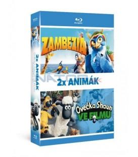 2x Blu-ray Animák (2BD): Ovečka Shaun ve filmu + Zambezia 3D