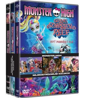 Monster High (Kamera, lebka, jedem!/Velký modmořský svět/Boo York) 3DVD