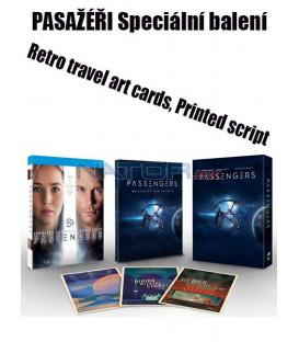 PASAŽÉŘI (Passengers) Blu-ray  Speciální balení (Retro travel art cards, Printed script)