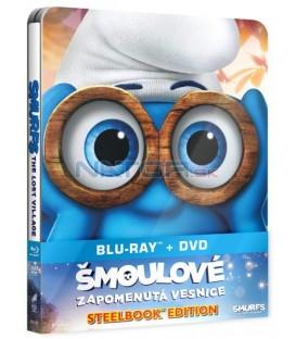 ŠMOULOVÉ: ZAPOMENUTÁ VESNICE / Šmolkovia: Zabudnutá dedinka (Smurfs: The Lost Village) Blu-ray + DVD (SteelBook)