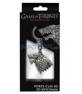 Klíčenka Game of Thrones - Stark 3D (kov)