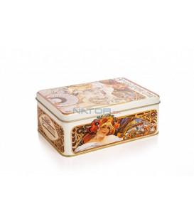 Plechovka Alfons Mucha – Biscuits, velká