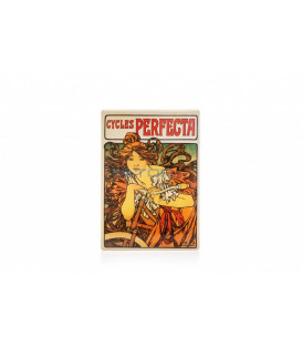 Cedule Alfons Mucha – Cycles Perfecta, 15 x 21 cm
