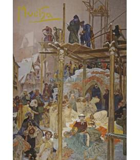 Pohled Alfons Mucha Slovanská epopej –  Milíč z Kroměříže, krátký