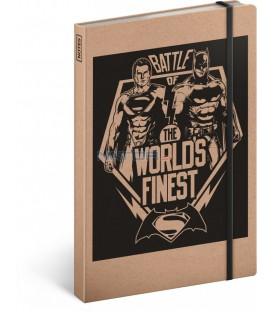 Notes Batman v Superman – Battle, linkovaný, 13 x 21 cm