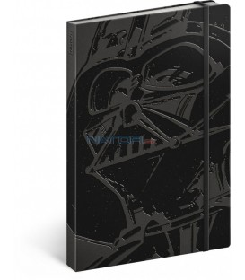 Notes Star Wars – Darth Vader, nelinkovaný, 13 x 21 cm