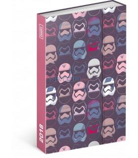 Týdenní magnetický diář Star Wars 2018, 10,5 x 15,8 cm