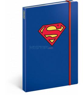 Notes Superman – Symbol, linkovaný, 13 x 21 cm